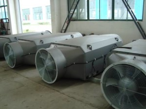 Air-air cooler for wind power generator